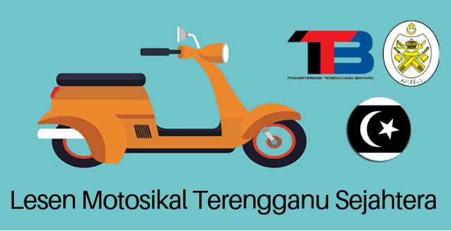 Permohonan Lesen Motosikal Percuma Terengganu Sejahtera 2019 online