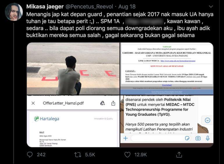 """Menangis Kejap Depan Pondok Guard"", SPM 1A & Diejek, Pemuda Terharu Akhirnya Diterima Masuk Universiti_5f3e76ddea924.jpeg"