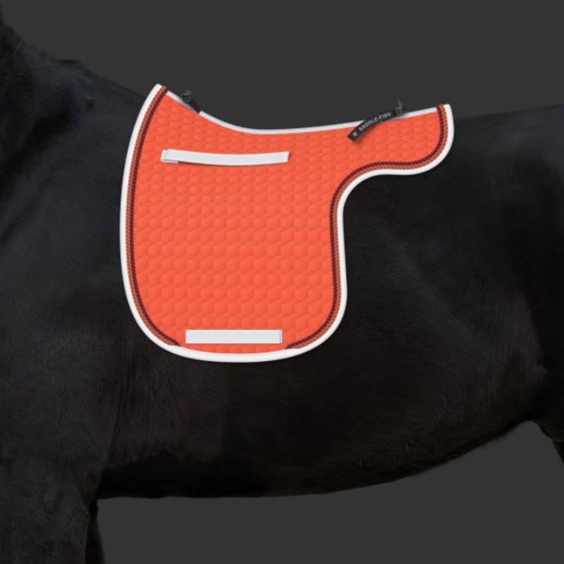 tapis mattes personnalisable forme de selle cheval