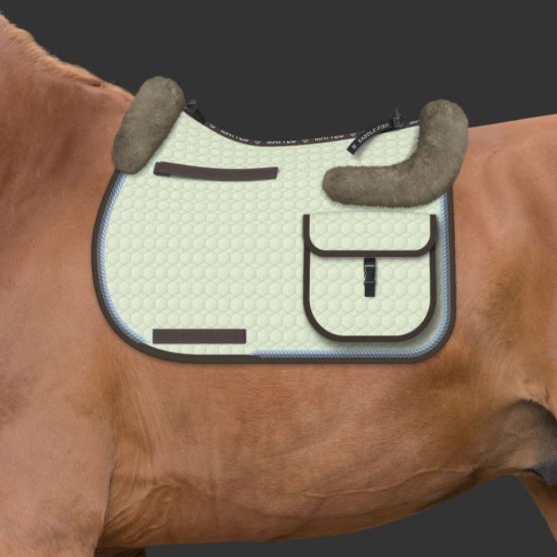 tapis mattes personnalisable randonnee cheval amortisseur mouton