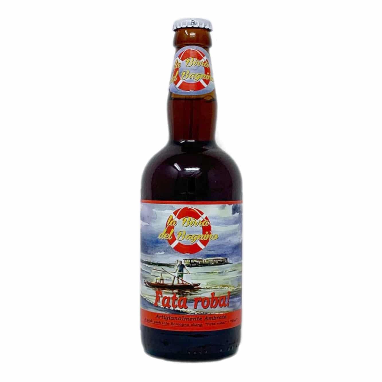 FATA ROBA! Birra Artigianale Ambrata Amber Ale 50 CL La Birra del Bagnino - prodotti tipici romagnoli