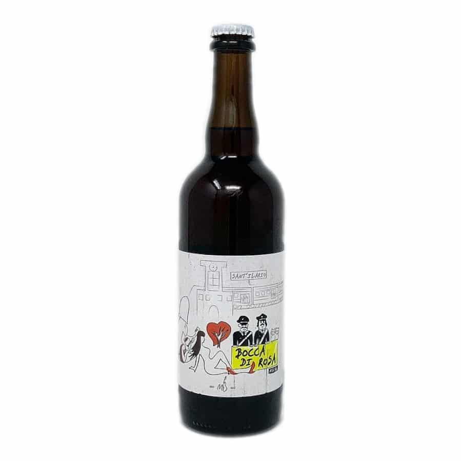 BOCCA DI ROSA Birra Artigianale Rossa Non Filtrata 75 CL Malti E Bassi