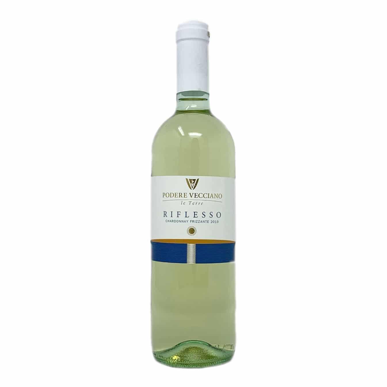 RIFLESSO Chardonnay Frizzante IGP Podere Vecciano - prodotti tipici romagnoli