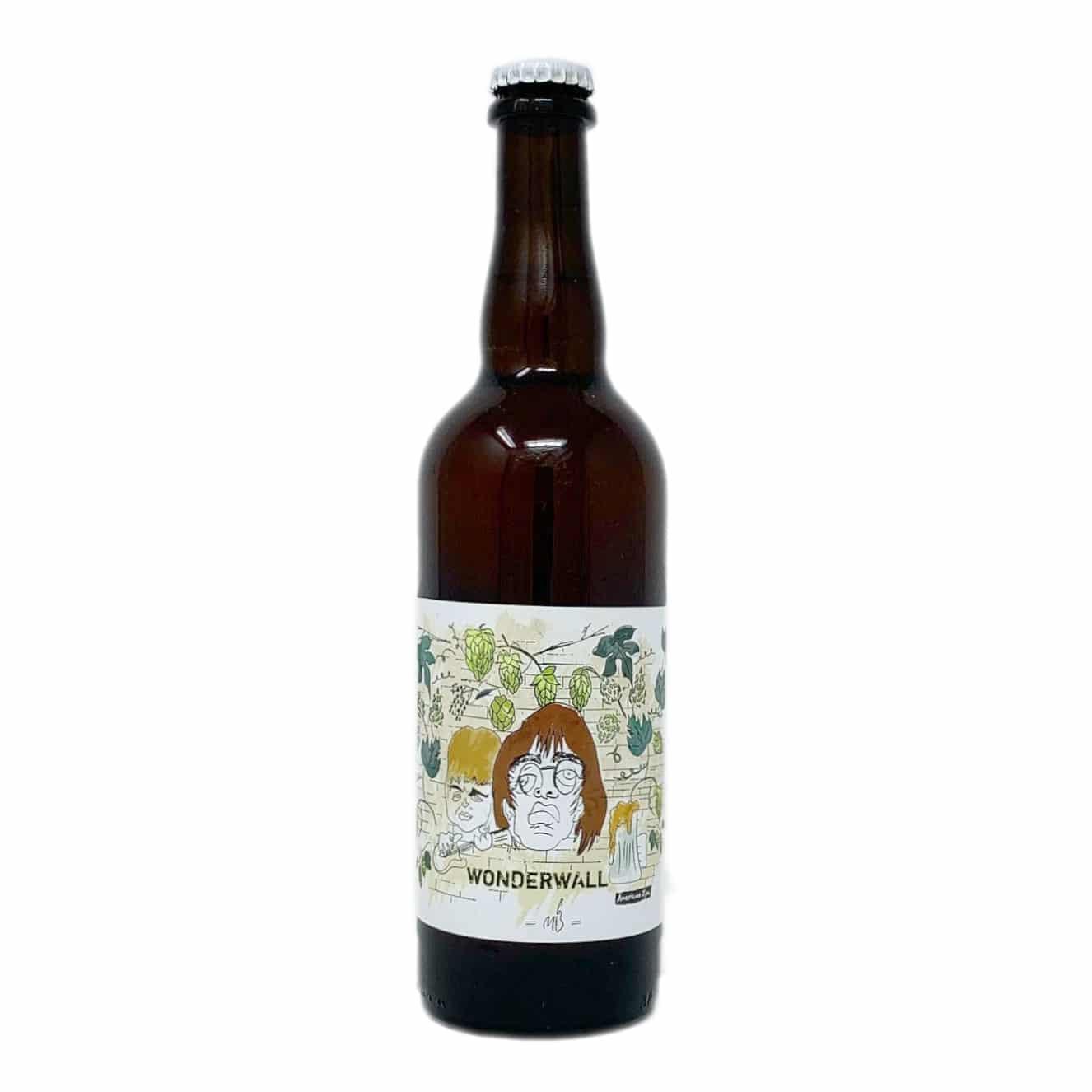 WONDERWALL Birra Artigianale Chiara doppio malto non filtrata 75 CL Malti e Bassi - prodotti tipici romagnoli