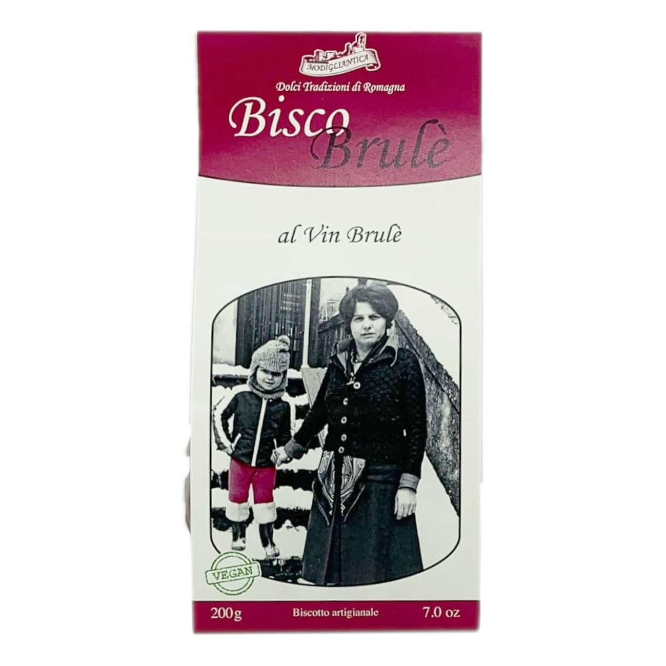 BISCO BRULÈ AL VIN BRULEÈ Biscotti VEGAN Modigliantica - prodotti tipici romagnoli