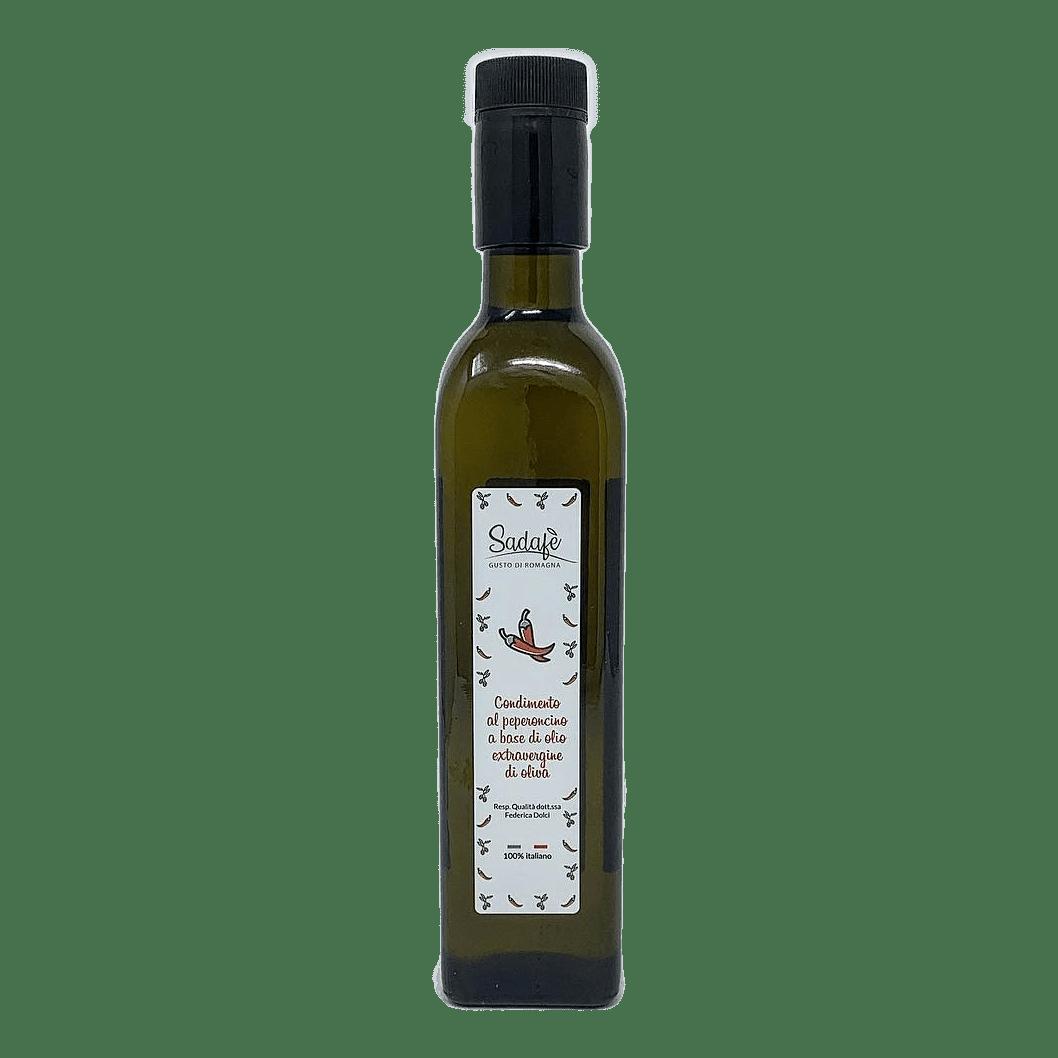 CONDIMENTO al Peperoncino Piccante in Olio Extravergine d'oliva 25 cl SADAFÈ - prodotti tipici romagnoli