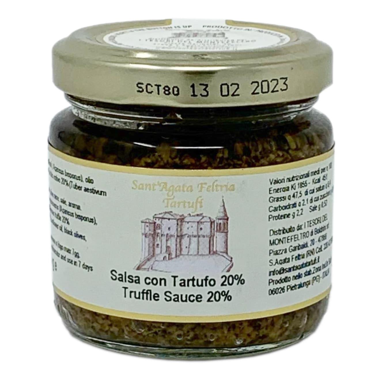 SALSA CON TARTUFO 20% 80G Sant'Agata Feltria Tartufi - prodotti tipici romagnoli