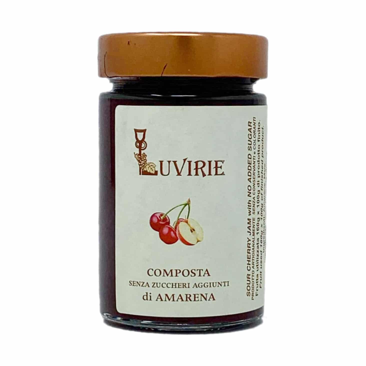 COMPOSTA DI AMARENA 210G Luvirie - prodotti tipici romagnoli