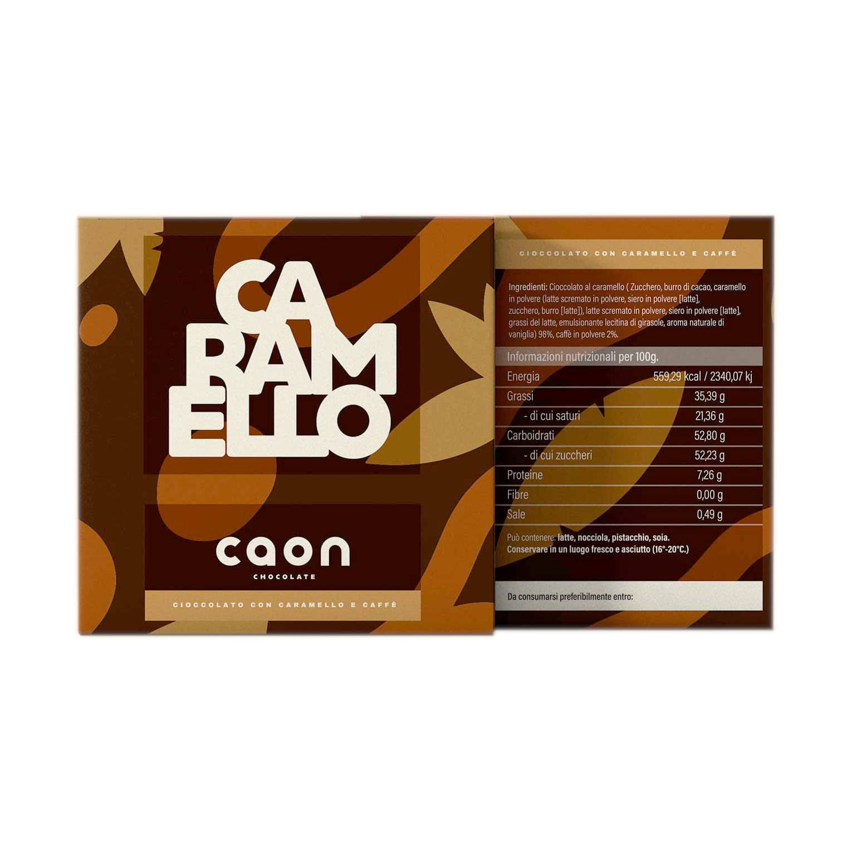 CIOCCOLATO AL CARAMELLO E CAFFÈ 50GR Caon Chocolate