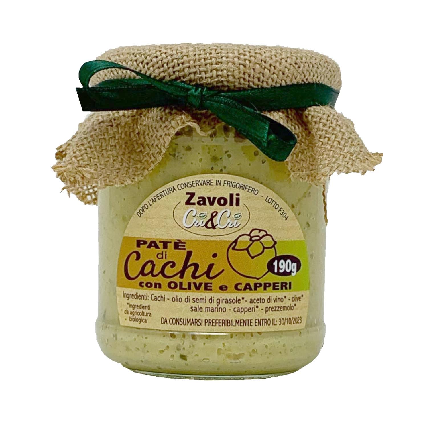 PATÈ DI CACHI CON OLIVE E CAPPERI Zavoli Cri&Cri 190GR