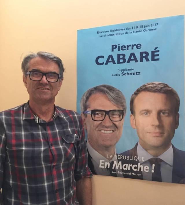 Pierre Cabaré, candidat sur la 1er circonscription
