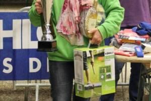 Sandrine Casado fière de son trophée