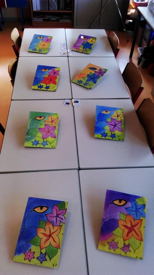Démarche artistique pour mes élèves à la manière de maîtresse Séverine