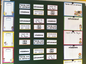 Ateliers de mathématiques : mise en place et affichages