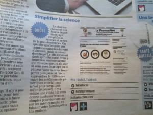Journal de Montréal 18 octobre 2012 - Le Pharmachien