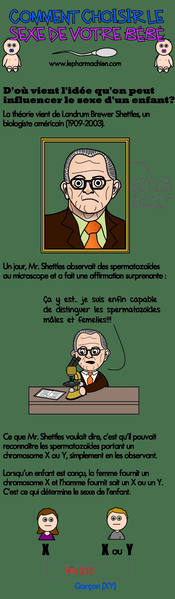 Landrum B. Shettles et ses recherches sur les spermatozoïdes