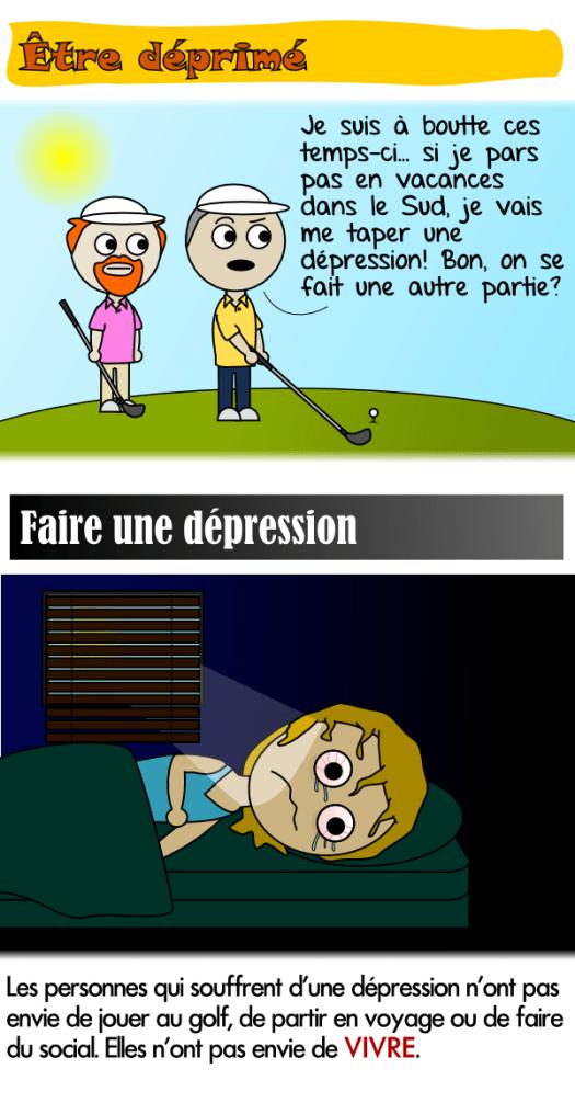 Les personnes qui souffrent de dépression n'ont pas envie de vivre