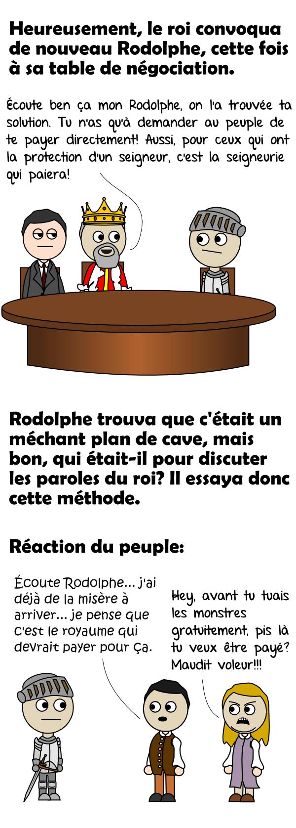 La table de négotiation du roi et la réaction du peuple