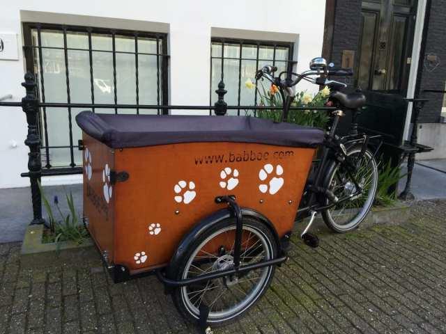 Bicicletta con carretto Amsterdam