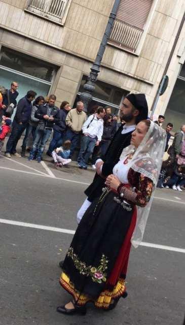 Sant'Efisio coppia costumi