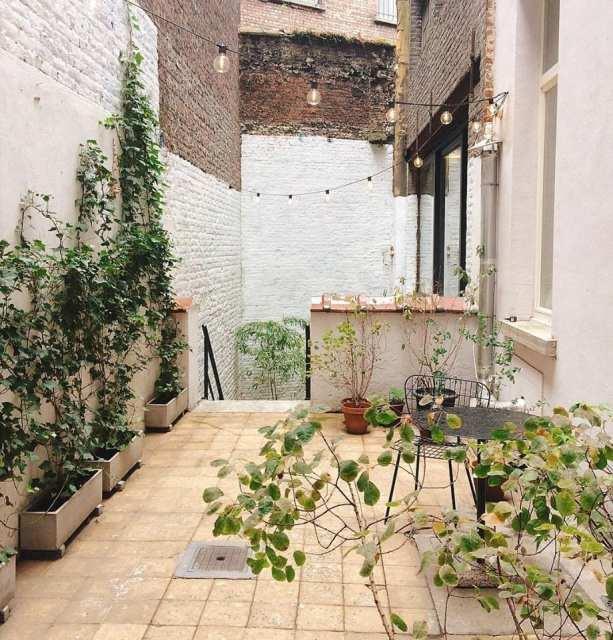 Giardino interno - La Fabrika Bruxelles- Le Plume stile nordico