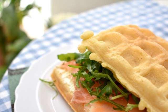 Pausa pranzo - guafres salate - dettaglio ripieno 2 - le plume