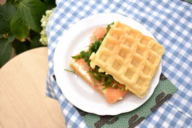Pausa pranzo - guafres salate - flat - le plume