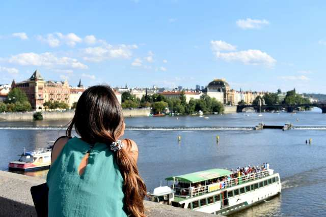 Vista dal Ponte Carlo - Praga -Le Plume