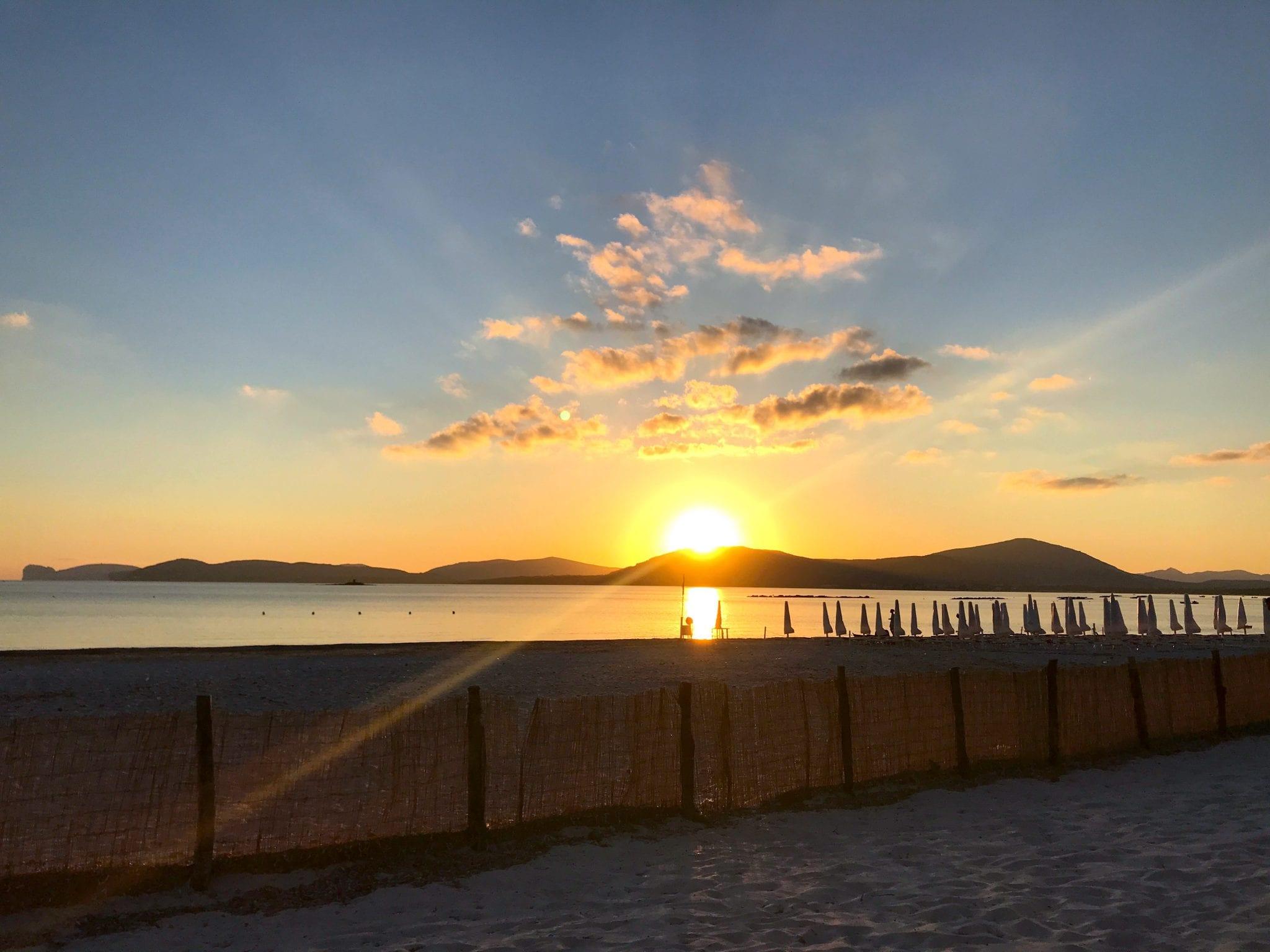 tramonto su alghero - le plume
