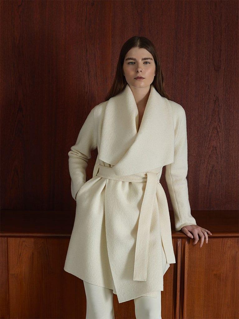 Harris Wharf London cappotto bianco