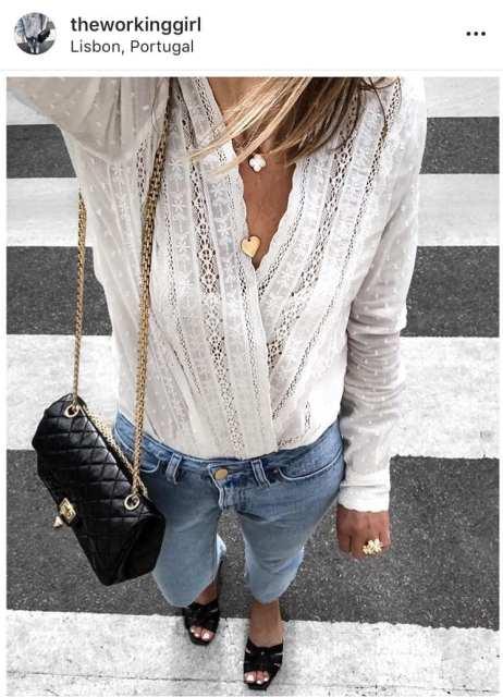 Camicia San Gallo scollo - Trend - Le Plume