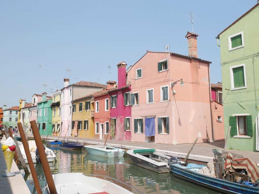 Casette colorate Burano - Le Plume