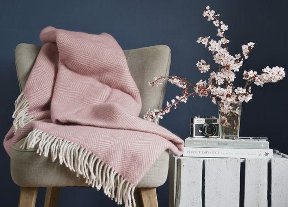 rosa - Plaid - Le Plume