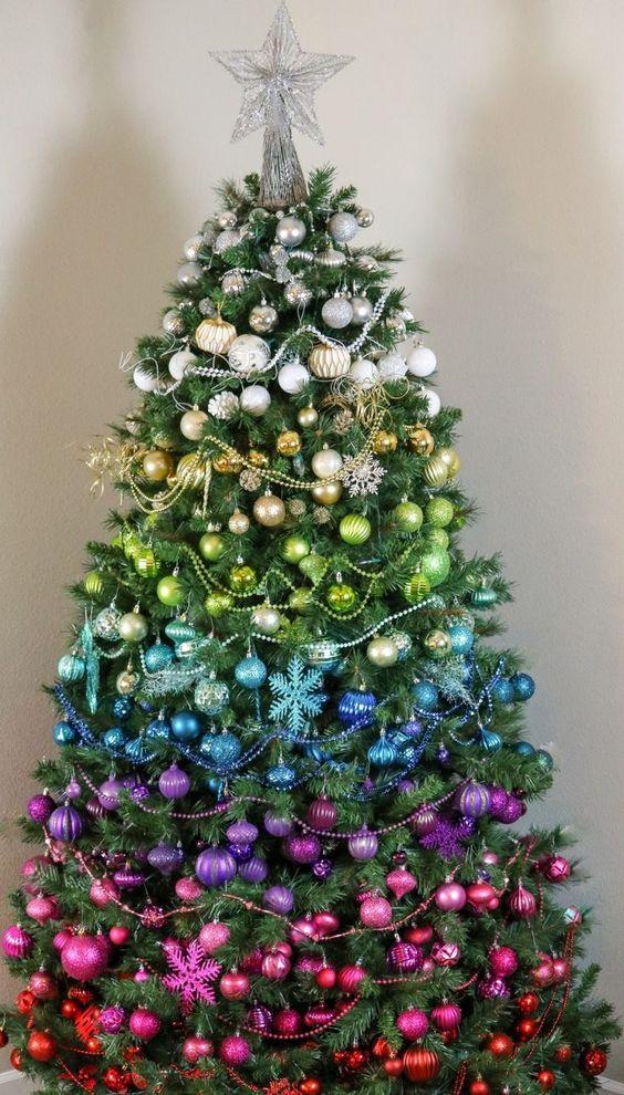 Natale albero colorato - I colori del Natale - Le Plume.jpg