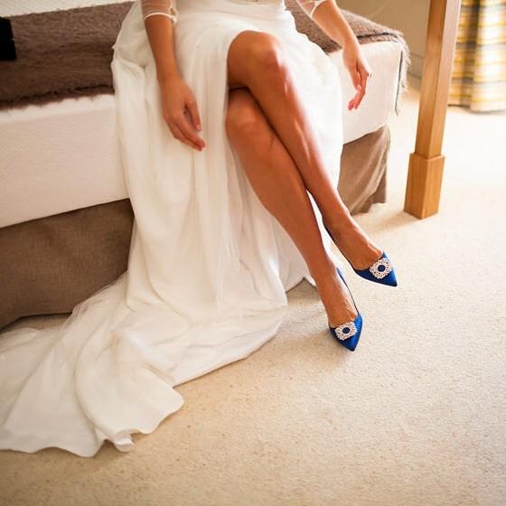 zapato azul manolo blahnik novia (2)