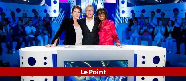 Laurent Ruquier entouré de ses chroniqueurs, Natacha Polony et Audrey Pulvar