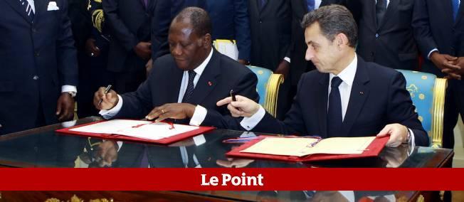 Alassane Ouattara et Nicolas Sarkozy ont conclu jeudi un important accord de coopération militaire.
