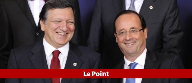 José Manuel Barroso et François Hollande le 23 mai à Bruxelles.