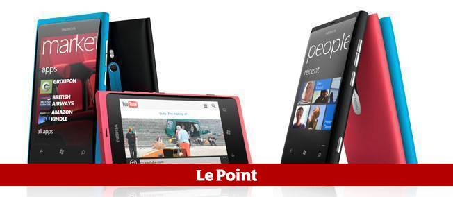 Des smartphones Lumia 800, équipés de Windows Phone 7. © Nokia