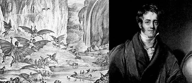"""25 août 1835. Le """"New York Sun"""" annonce la découverte d'hommes chauves-souris sur la Lune."""