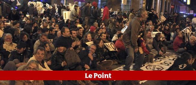 Manifestation en Espagne contre la rigueur budgétaire.