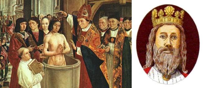 25 décembre 499. Victime du harcèlement de Clotilde, Clovis finit par se faire baptiser à Reims.