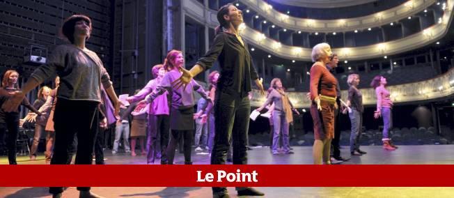 """Répétitions de """"Mireilles"""" au théâtre du Gymnase."""