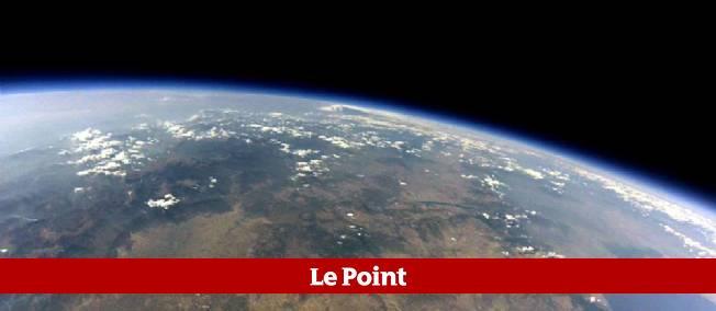 La courbure de la Terre vue de l'espace.