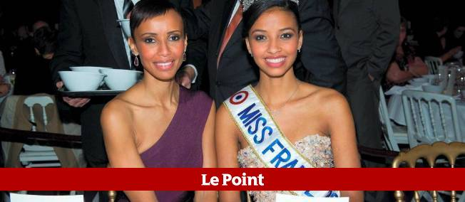 Sonia Rolland et Flora Coquerel au dîner de gala qui a suivi l'élection de Miss France 2013.