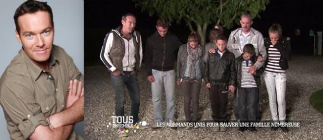 """Marc-Emmanuel accompagne Thierry et sa famille lors de l'émission """"Tous ensemble"""" diffusée le 18 octobre 2014."""