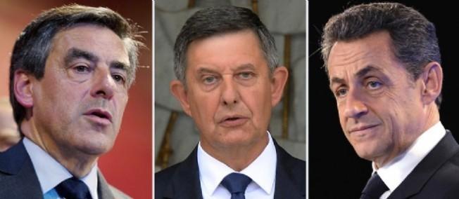 François Fillon, Jean-Pierre Jouyet et Nicolas Sarkozy, trois amis.