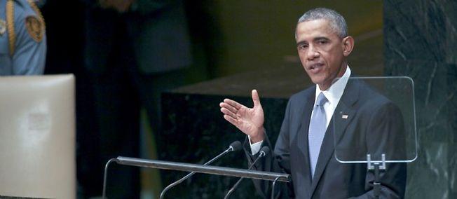Le président américain Barack Obama lors de l'Assemblée générale de l'ONU à New York, le 24 septembre 2014.