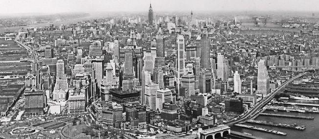 Vue de Manhattan, en mai 1958, à l'époque du coup de couteau.
