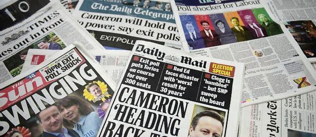 Les journaux britanniques étrillent ce matin le revers des sondeurs.